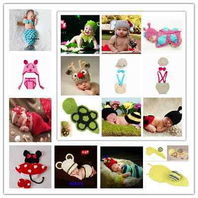 Newborn Baby Crochet Knit Costume photography props Animals Outfit from 0-6 M