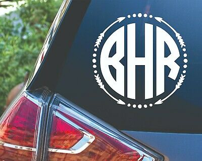 Personalized Arrow Circle Polka Dot Custom Monogram Decal Sticker for Car Cup