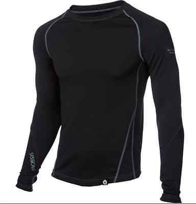 Sessions Men's Dry Tech Crew Base Layer ~ black ~ Large ~ NWT!