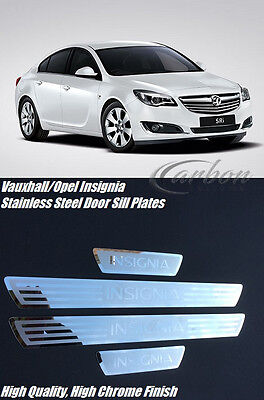 Vauxhall/opel Insignia Stainless Steel Door Sill Scuff Plates With Logo