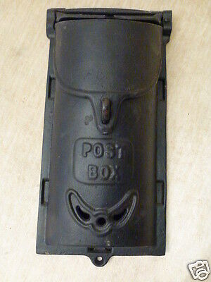 Antique Griswold 4 Cast Iron Mail Post Box Wall Mount Mailbox Large & Small Lid