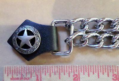 Silver star vest extension motorcycle biker clothing accessory extender made USA