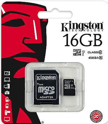 KINGSTON 16GB TF Micro SD Card Class10 for DashCam iNCar Oncar Rearview BlackBox