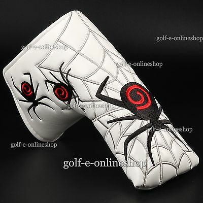 New Spider on Web White Golf Putter Head cover for Titleist Odyssey Blade Putter