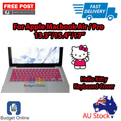 """Hello Kitty Keyboard Case Cover Protector for Apple MacBook Pro Air 13.3"""" 15"""" 17"""