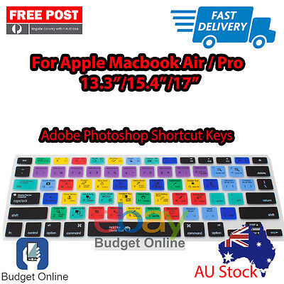 """Adobe Photoshop Keyboard Cover Protector for Apple MacBook Pro Air 13.3"""" 15"""" 17"""