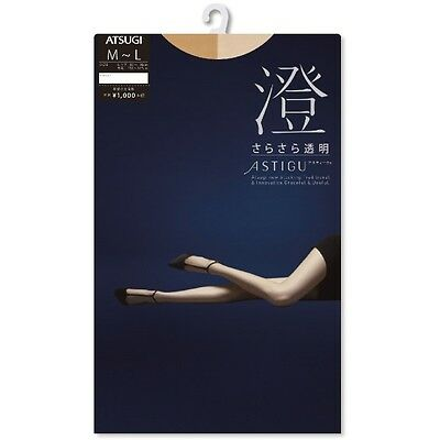"ATSUGI Pantyhose Stockings Tights 澄 ""Smooth"" Transparent like Bare Skin Japan"