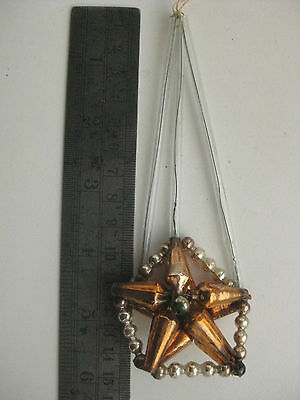 Antique German Christmas Silver Glass Ornament  Construction Star