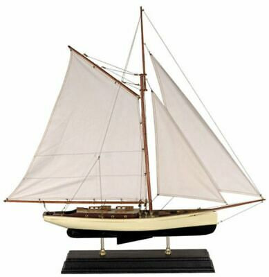 "Classic Large Sailboat Assembled 35"" Built Wooden Authentic Models Ship"