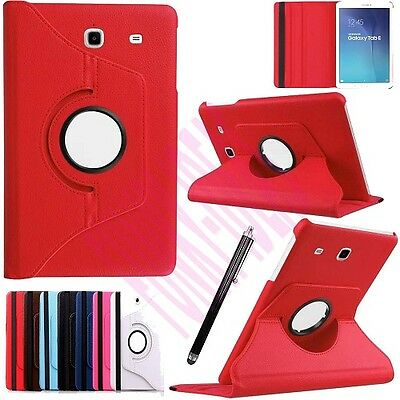 """360 Rotation Leather Case Stand Cover For Samsung Galaxy Tab E 9.6"""" SM-T560 T561"""
