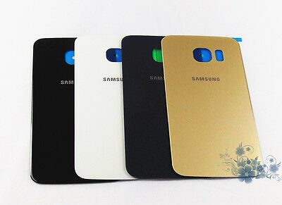 Glass Housing Battery Back Cover Rear Door + Adhesive for Samsung S6 / S6 edge