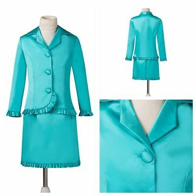 Stock Kids Girl's Long Sleeve pageant Girls interview suit formal dress gown Set