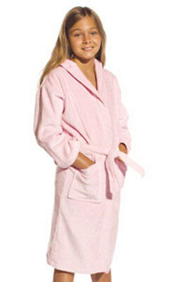 Teen/kid/adult Unisex Bathrobe Bath Robe Terrytowel Cotton Two Pockets Sleepwear