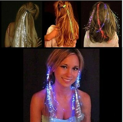 1x LED Flash Hair Wig Glowing Braid  For Club Party Holiday Supplies Decoration