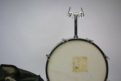 1965 60's Ludwig Vintage Bass drum with case tom tom stands legs Black Diamond