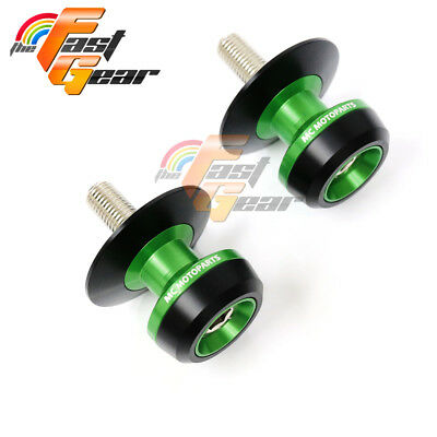 TFG Green Twall Protector Swingarm Spools Sliders for Kawasaki ER6N/F 2005-2015