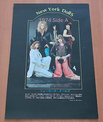 New York Dolls~Deodato 1974 Vintage Japan Double Sided Pin Up Clip