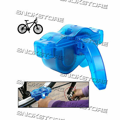 Bicycle Chain Cleaner Tool Kit Bike Wash Pulisci Catena Bicicletta Bici Brushes