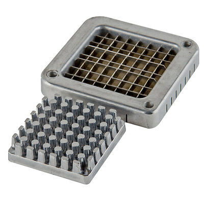 """Choice 3/8"""" Stainless Steel Blade Assembly and Push Block for French Fry Cutters"""