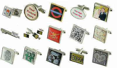 Professional Photograph Picture Cufflinks,Lapel Pin,Tie Slide,Gift Set & More