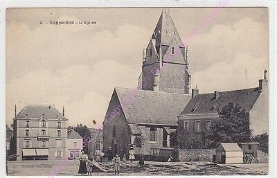 CPA 72160 CONNERRE Eglise animation