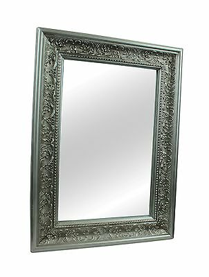 Charlemagne Silver Ornate French Vintage Stylish  Wall Mirror  75 x 105 cm