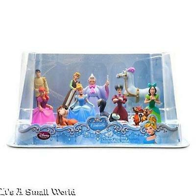 Disney Store Cinderella Deluxe Figure Play Set 11 Pieces Cake Toppers NIB