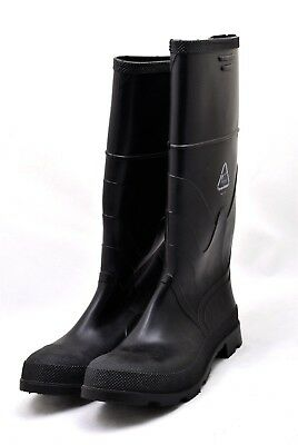 Men's OnGuard Rubber Pull On Boots Black Work Boots Steel Toe  - Size 9M NEW