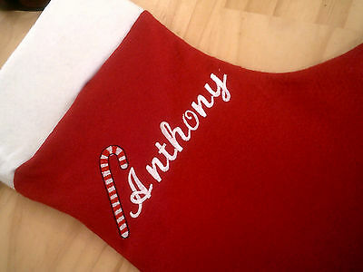 personalized with your name candy cane   christmas personlized stocking