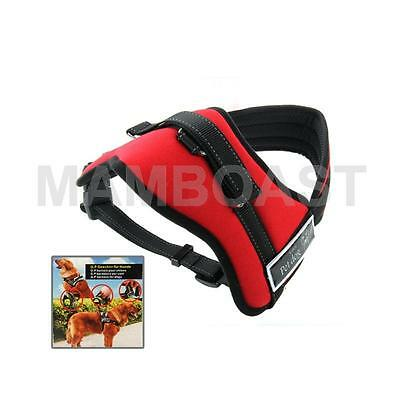 Soft Thicken Pet Chest Suspenders Dog Traction Rope, Size: M (50-65cm)(Red)