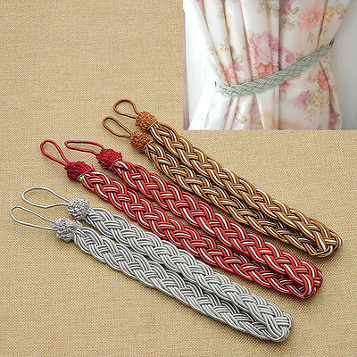 Braided Rope Tassel Window Curtain Fringe Tieback Tie-Backs Curtain Holder 1PC