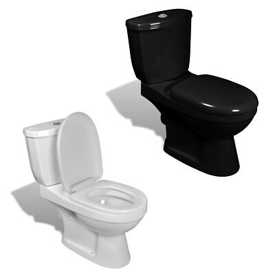 New Bathroom Toilet Cistern Dual Flush System Ceramic White / Black Selectable