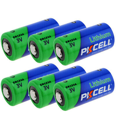 8X PKCELL NEW DL123A CR123A 3V Lithium Batteries for Camera Flashlight