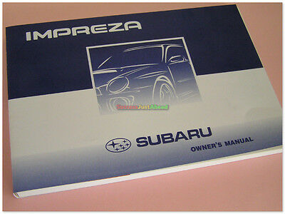 Original 01~07 Subaru Impreza Version 7 A1841GE Owners Manual Handbook SJH10611