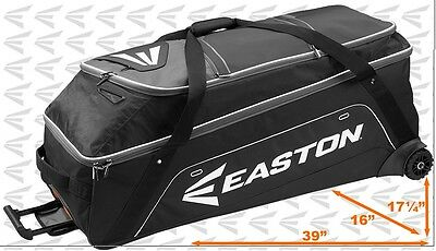 Easton E900G Baseball Softball Fast Pitch Gear Bag Batbag W/ Wheels, Black  NEW!