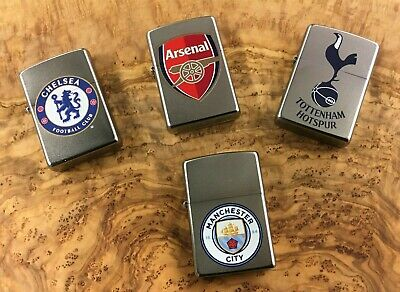 Personalized Genuine Zippo Lighters football club badges , free engraving,
