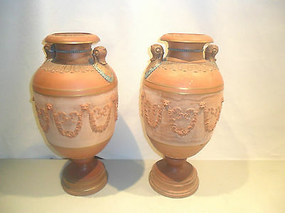 Very Important Pair Of Watcombe Pottery Large Urns Style Of Christopher Dresser