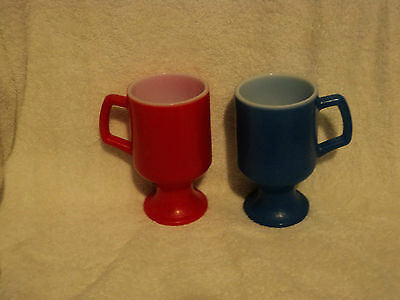 2 VINTAGE 1960's GAS STATION PROMOTIONAL 10 oz COFFEE MUGS
