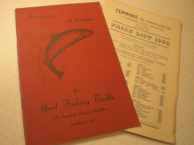 A Vintage Cummins Advertising Fishing Catalogue And 1960 Price List