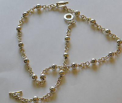 """17"""" Necklace and 7.25"""" Bracelet Chain Set .925 Sterling Silver"""