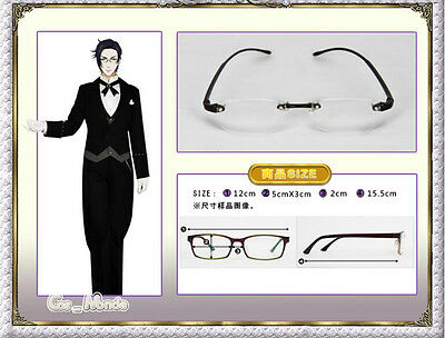 Cosplay Japan Anime Black Butler 2 CLAUDE Glasses Cos Prop Rimless