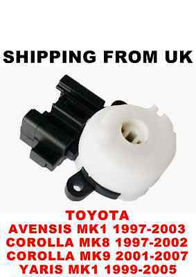 Ignition Switch Lock Barrel Starter Toyota Avensis Mk1 Corolla Mk8 Mk9 Yaris Mk1