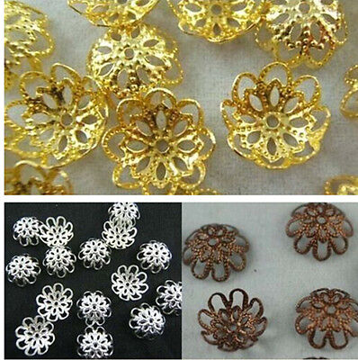 Wholesale Gold /Silver/Copper Plated Flower Bead Caps Jewelry Findings 10mm/12mm