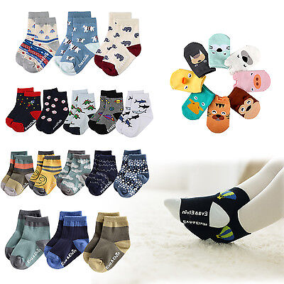 "NWT Vaenait Baby Kids Toddler Clothes Boys Non-slip Socks Set ""Boys socks"" 1T-7T"