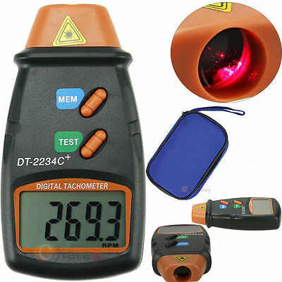 Handheld Digital Photo Laser Tachometer Non Contact Tach Tool RPM Tester New US