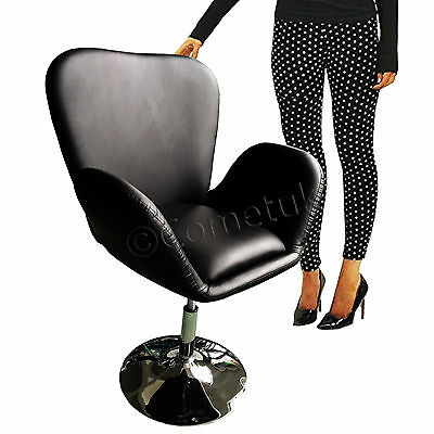 Black Leather Style Beauty Salon Seat Hairdresser Barber Chair Adjustable Height