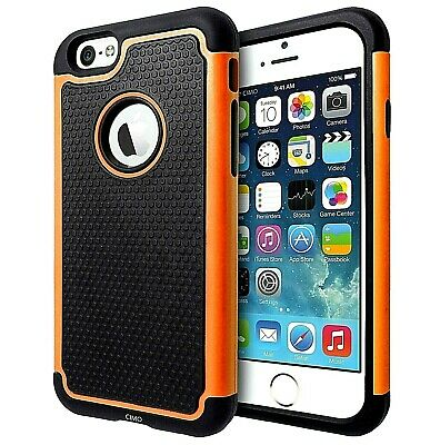For iPhone 6 Plus 6s Plus Shockproof Heavy Duty Orange Case Cover FREE Shipping