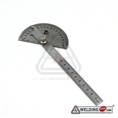 Qualtiy Stainless Steel Round Head Rotary Protractor Laser Engraving Angle Ruler