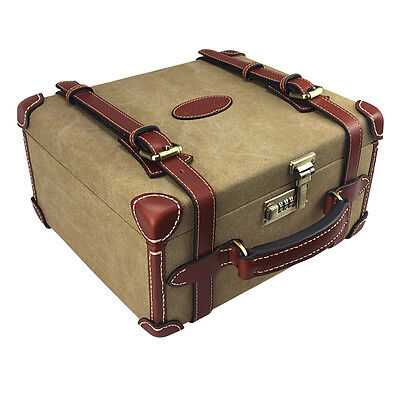 Tourbon Ammunition Case Ammo Storage Cartridge Box Hold 200 Shell Canvas Leather