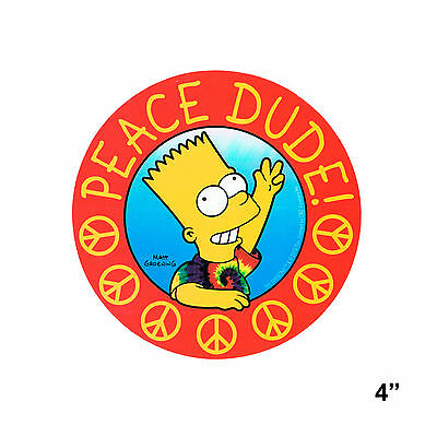 STICKER - The Simpsons Peace Dude Sign Bart Decal  SB15